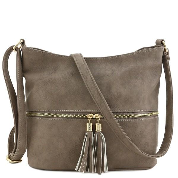 f98d831d9 Tassel Zipper Bucket Crossbody Bag - Taupe - CV1875T9M2X