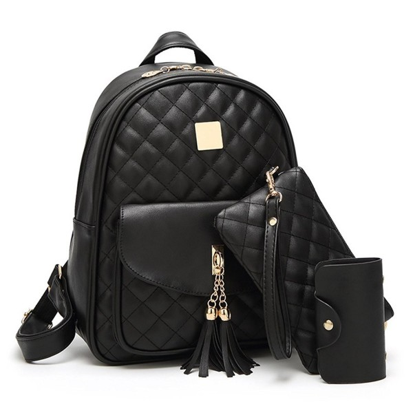 Womens Fashion Quilted Backpack Leather