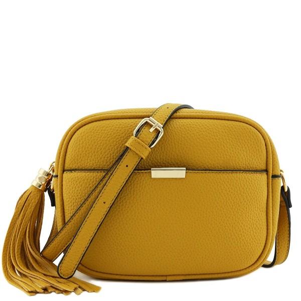 Square Tassel Crossbody Bag Mustard