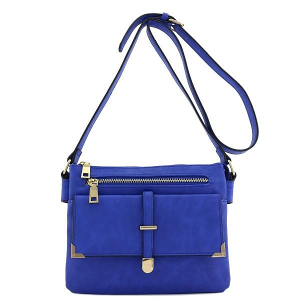 Flap Pocket Crossbody Royal Blue