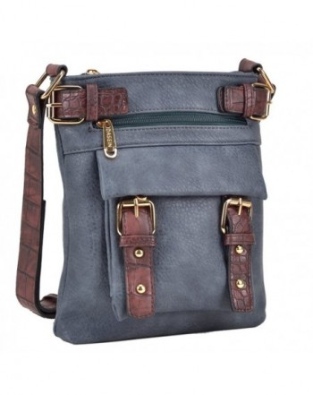 Dasein Belted Crossbody Leather Messenger