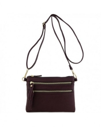 Multi Zipper Pocket Wristlet Crossbody