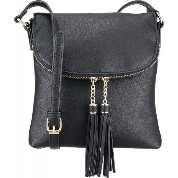 BRENTANO Flap Over Crossbody Handbag Accents