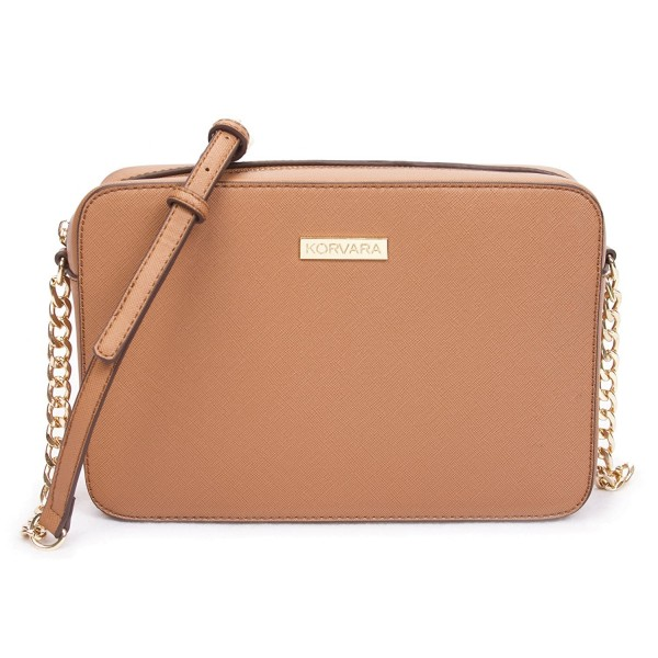 Korvara Saffiano Crossbody Bag Leather