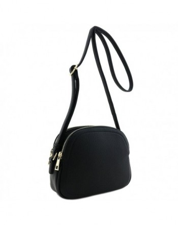 Double Half Moon Crossbody Black