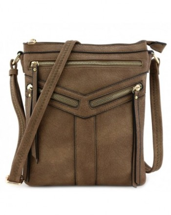 Double Compartment Crossbody Zipper Accent