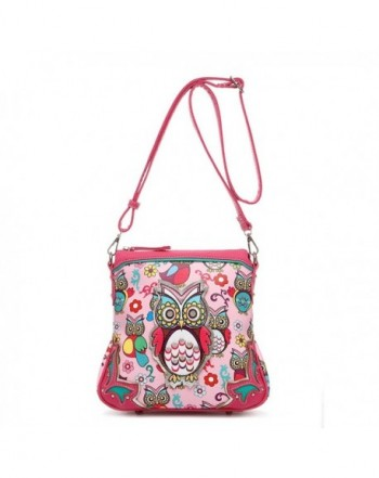 Colorful Owl Print Over Crossbody