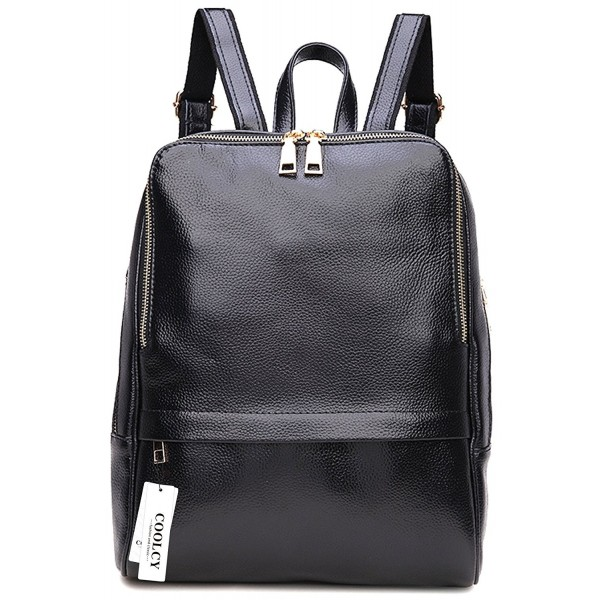 Coolcy Genuine Leather Backpack Fashion