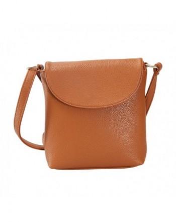 JOLLYCHIC Leather Pockets Crossbody Shoulder