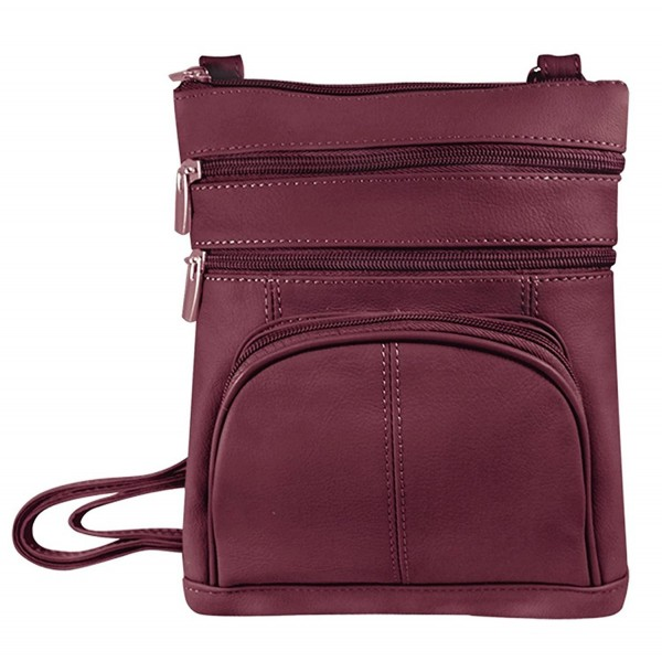Vivoi Multi Pocket Genuine Leather Crossbody