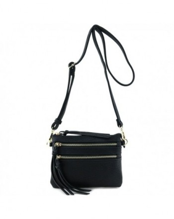 Multi Pocket Small Crossbody Black