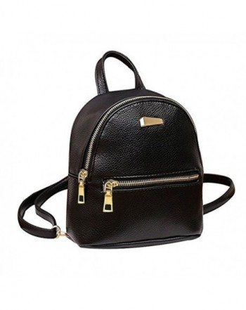 Donalworld Floral School Leather Backpack