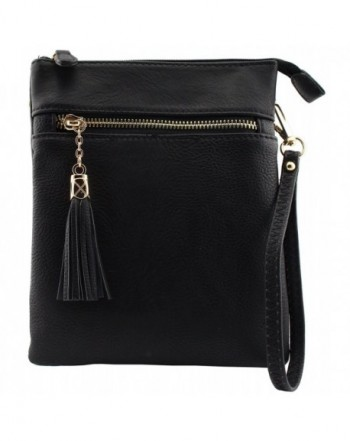 040dbb486e Vegan faux soft leather functional multi compartments crossbody bag ...