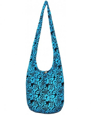 Bohemian Hipster Crossbody Shoulder BrightBlue