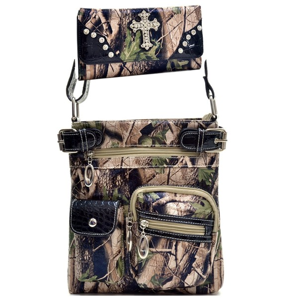 Western Camouflage Messenger Matching Wallet