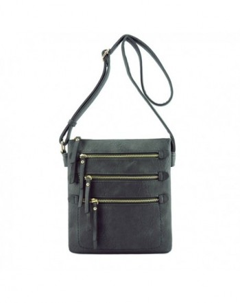 Zipper Pocket Compartments Hipster Crossbody