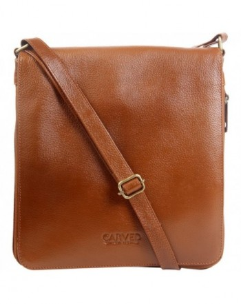 Carved Expandable Womens Leather Crossbody