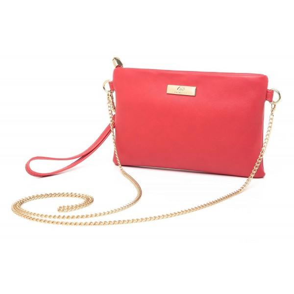 Aitbags Leather Wristlet Clutch Crossbody