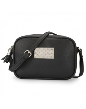 DAVIDJONES Leather Zipper Crossbody Strap