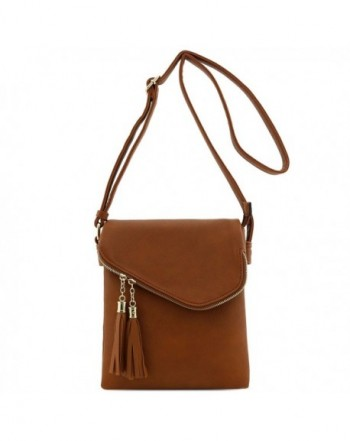Double Compartment Flapover Medium Crossbody