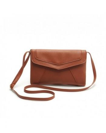 ZOONAI Leather Envelope Crossbody Shoulder
