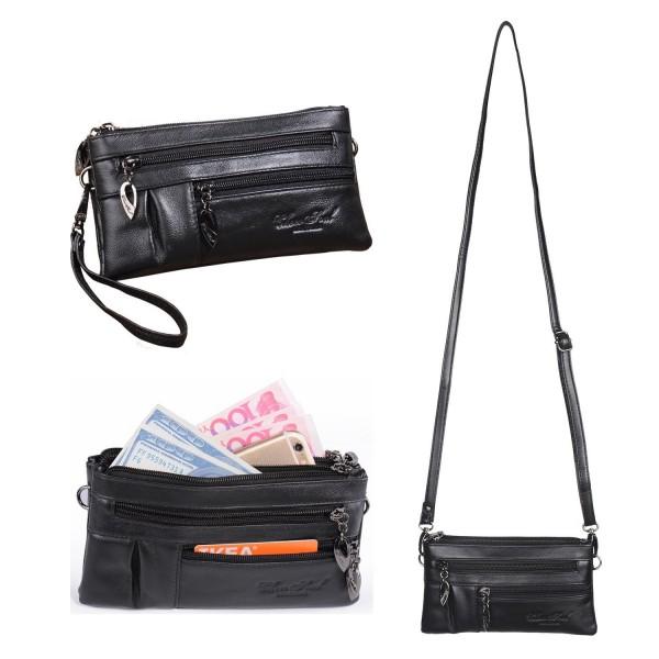 Crossbody Leather Wristlet Handbag Katloo