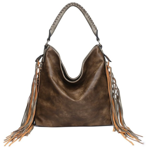 b08514f094ce Womens Shoulder bag Hobo Purse Crossbody Fringe Bags for Ladies ...