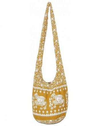 Elephant Bohemian Vintage Crossbody YellowMustard