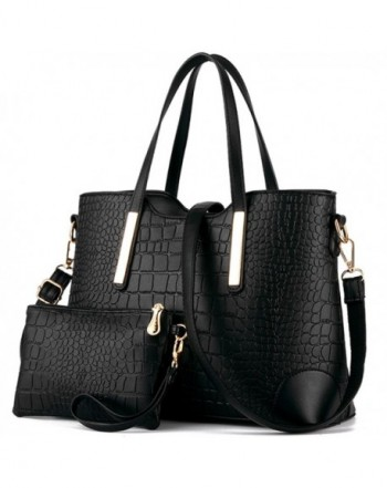 YNIQUE Satchel Handbags Crocodile Leather