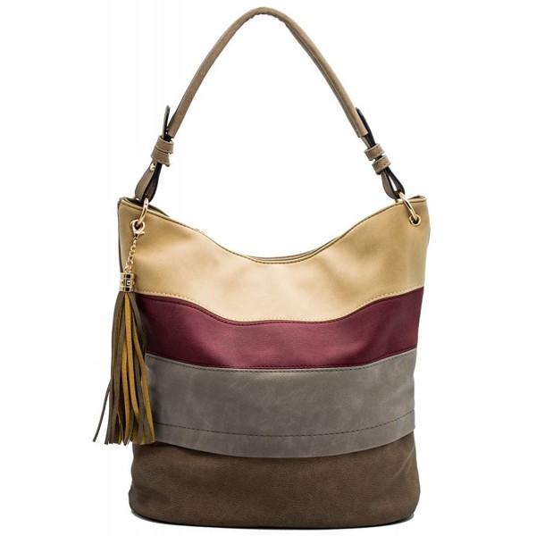 Handbags Shoulder Tassels Stripes valentines