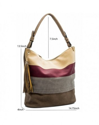Hobo Shoulder Bags Tassels Stripes