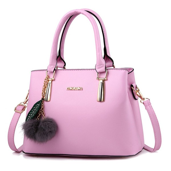7413bcb327a8 Women's Leather Handbag Tote Shoulder Bag Crossbody Purse - Pink -  CB188NZS8OG