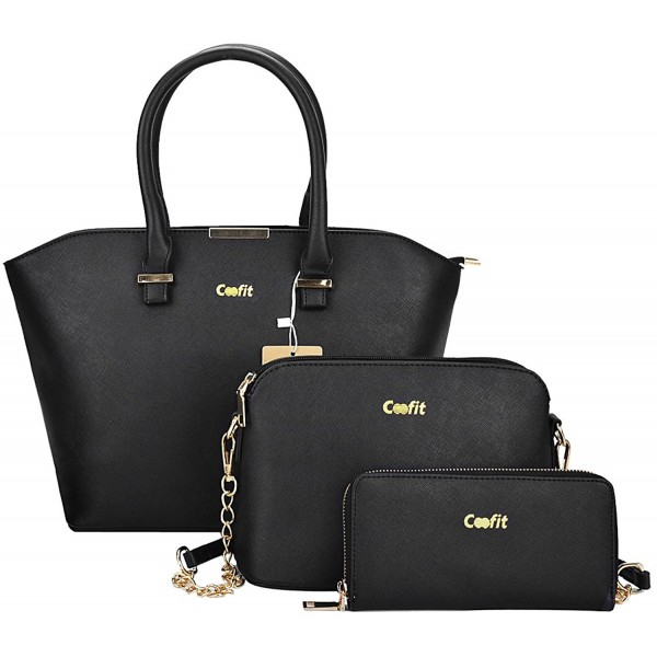 7984df6d1ce9 Women 3 Piece Tote Bag Pu Leather Handbag Purse Bags Set - Coofit ...