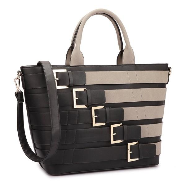 7125e7c277fc9d Medium Satchel 2 Pieces Purse Set Designer Handbag Top Handle Shoulder Bag  Padlock