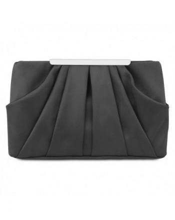 Pleated Evening Handbag Detachable Cocktail
