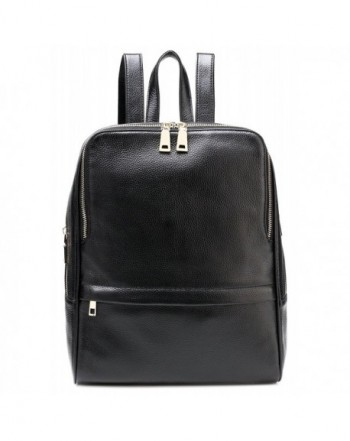 TINGLAN Genuine Leather Backpack Fashion