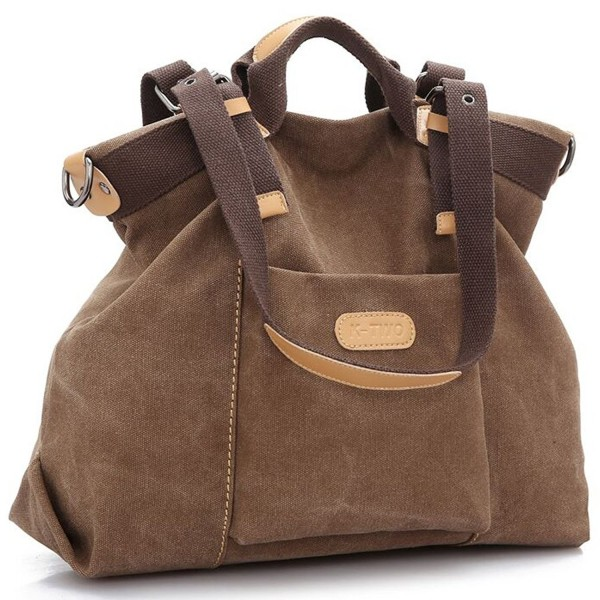 bc84981253 ... Casual Vintage Hobo Canvas Handbags Top Handle Tote Crossbody Shopping  Bags - Coffee - C012EC8ZH1T. Z joyee Shoulder Handbags Crossbody Shopping