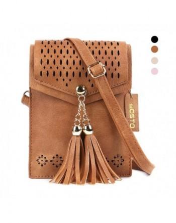 Crossbody seOSTO Leather Shoulder Handbag
