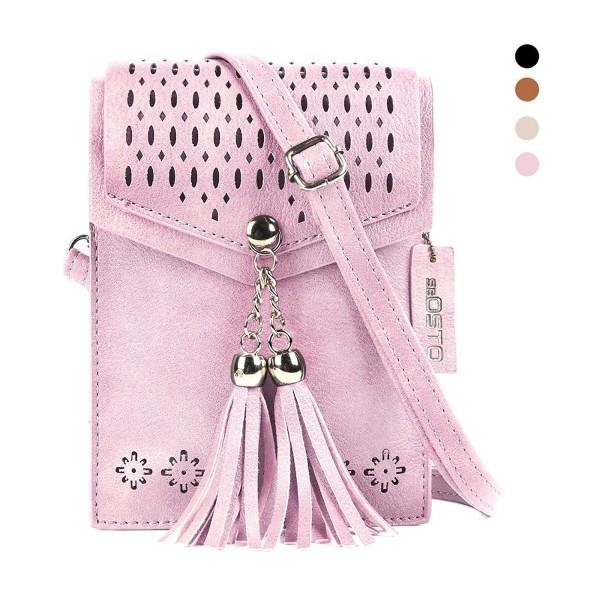 The Lovely Tote Co. Women's Top Handle Boxy Purse Crossbody Bag Suede Handbag