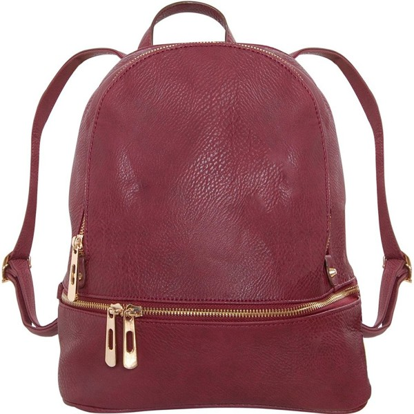 Humble Chic Leather Backpack Burgundy