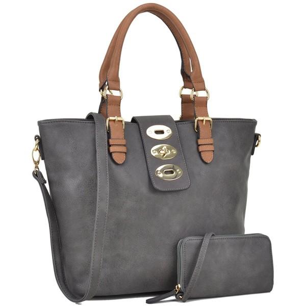 Womens Large Designer Tote Satchel Laptop Bag Fashion Handbag Shoulder Purse Fn6717 Dark Grey Ce183gli85i