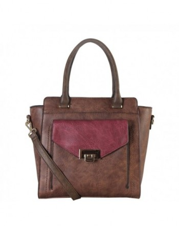 Diophy Leather Structured Handbag AB 030