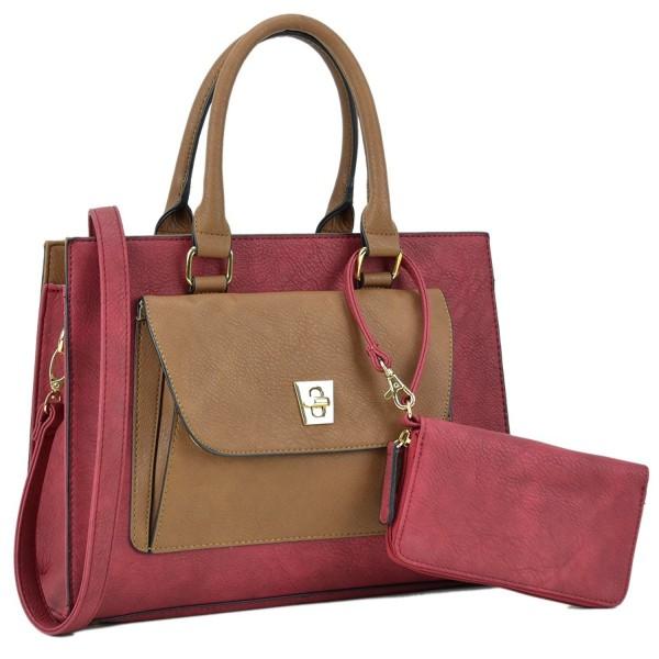 b3b016353 Dasein Women's Designer Leather Satchel Top Handle Shoulder Bag ...