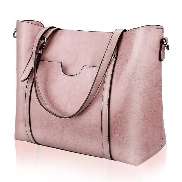 Satchel Handbags Shoulder Greased Leather